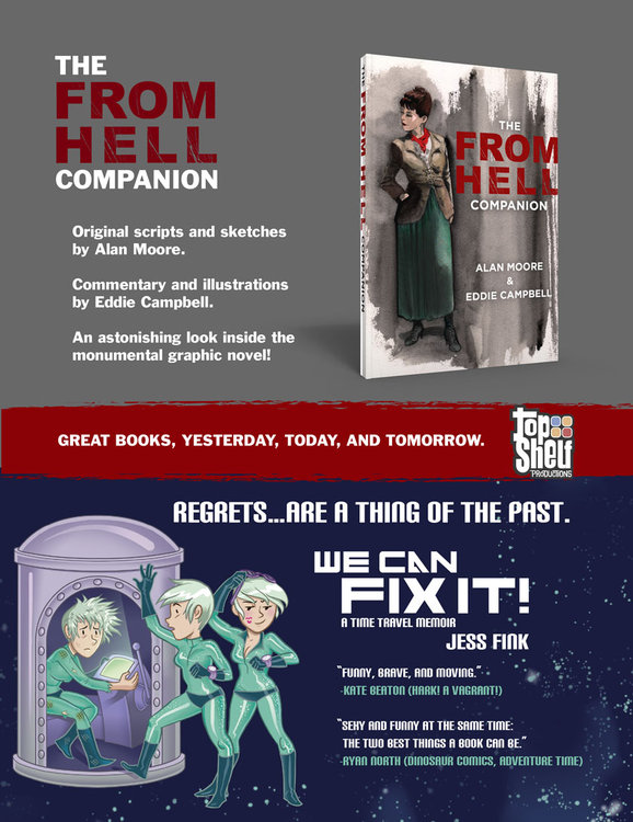 Alan Moore & Eddie Campbell return to FROM HELL for new COMPANION; Jess Fink says WE CAN FIX IT!
