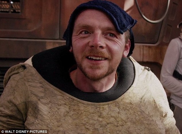 Simon Pegg WILL be in Star Wars: The Force Awakens