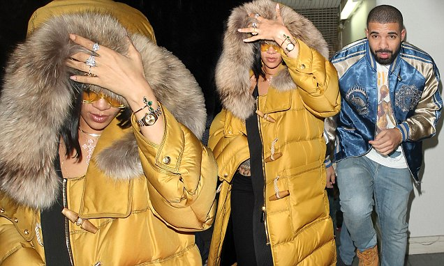 Rihanna parties with ex Drake in London ahead of BRITs performance