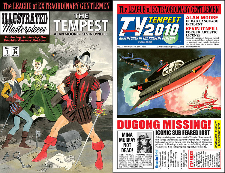 It's an Extraordinary day! LOEG (vol. IV): THE TEMPEST #1 & 2 are in stores now.